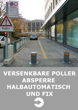 Poller,-Versenkbare-Halbautomatisch und Fix